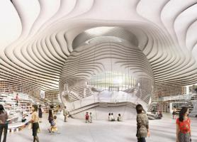 معماری شگفت انگیز کتابخانه تیانجین چین