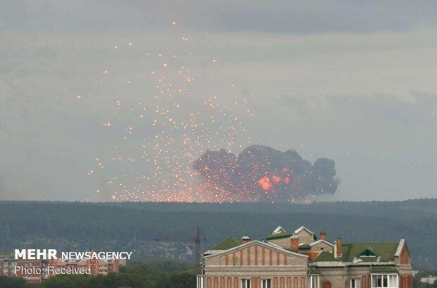 وقوع انفجار شدید در یک پایگاه نظامی در شمال روسیه