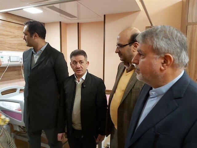 عیادت صالحی امیری و علی نژاد از حسن یزدانی