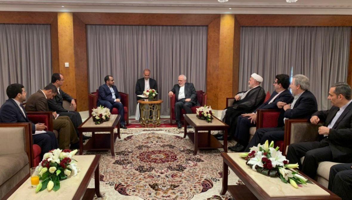 ملاقات سخنگوی انصارالله یمن با ظریف
