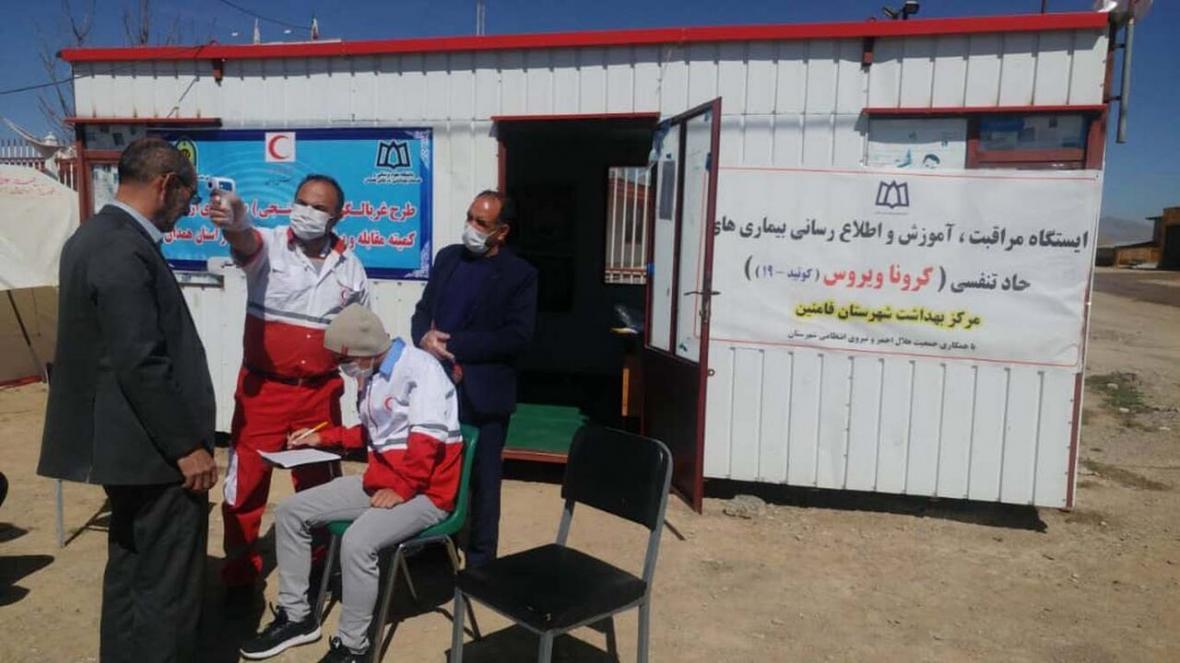 خبرنگاران غربالگری بیش از 96 هزار نفر در ورودی های همدان