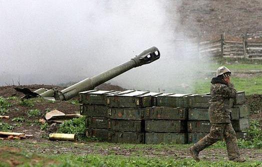 حمله آذربایجان به مرکز جمهوری قره باغ کوهستانی