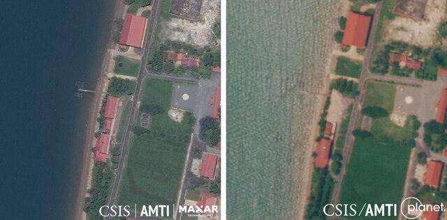 کامبوج ساختمان ساخت آمریکا در پایگاه دریایی خود را منهدم کرد