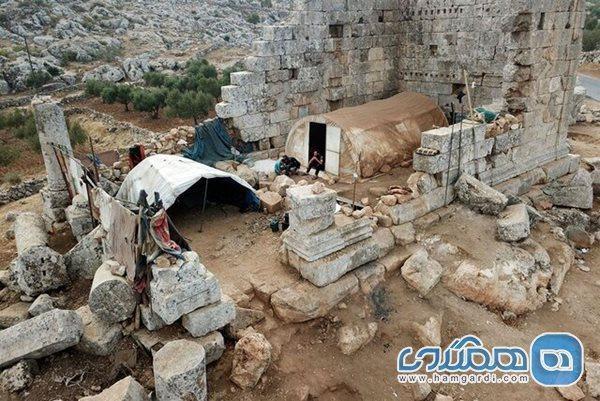 تبدیل یک معبد باستانی به خانه آوارگان سوری