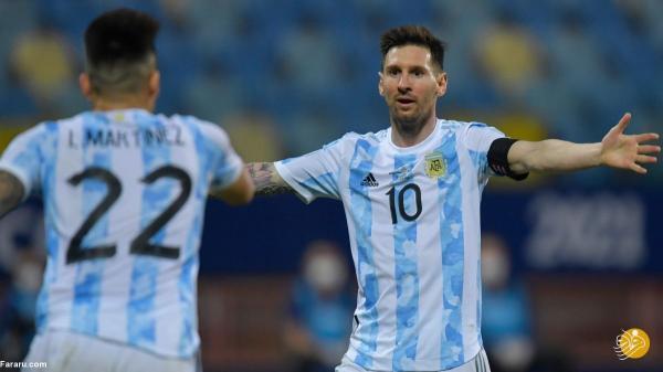 (ویدیو) خلاصه بازی آرژانتین 1 (3) - 1 (2) کلمبیا؛ صعود مسی به فینال